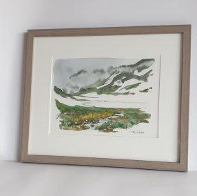 Lac Merlat, aquarelle 21x28