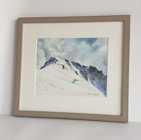 Mont-Blanc de Courmayeur, aquarelle 21x26