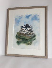Sommet Colomb depuis le Mont Saint Murry, aquarelle 30x40