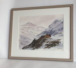 Vallon et refuge de la Leisse, aquarelle 31x41