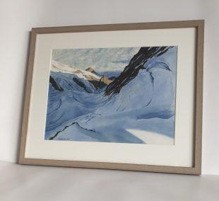 Glacier de la Brenva, aquarelle 31x41