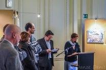 Petite révision rapide du disours avant de prendre la parole par l'échevin Leroy (Jette - Bruxelles)