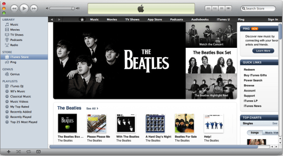 Beatles op iTunes