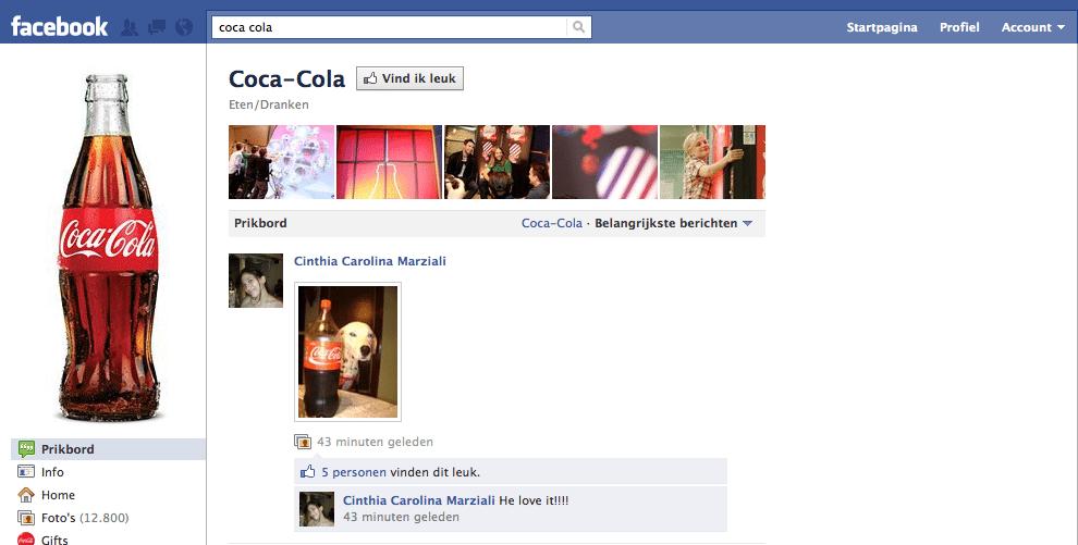 Coca Cola Facebook Fanpage