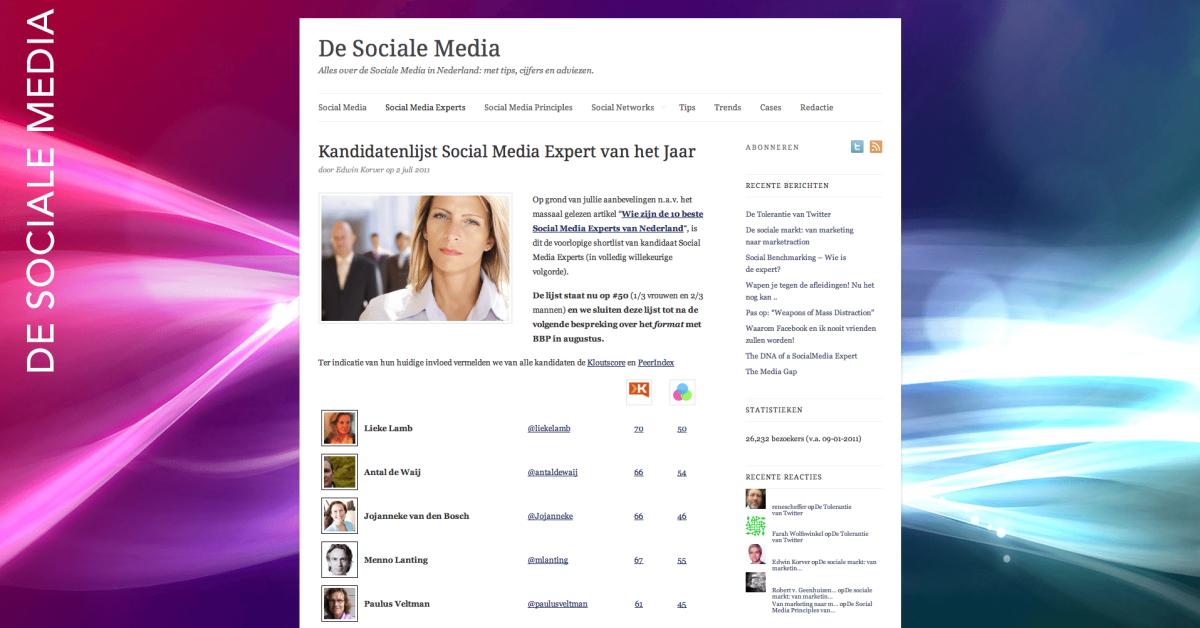 De Sociale Media - Social Media Expert 50
