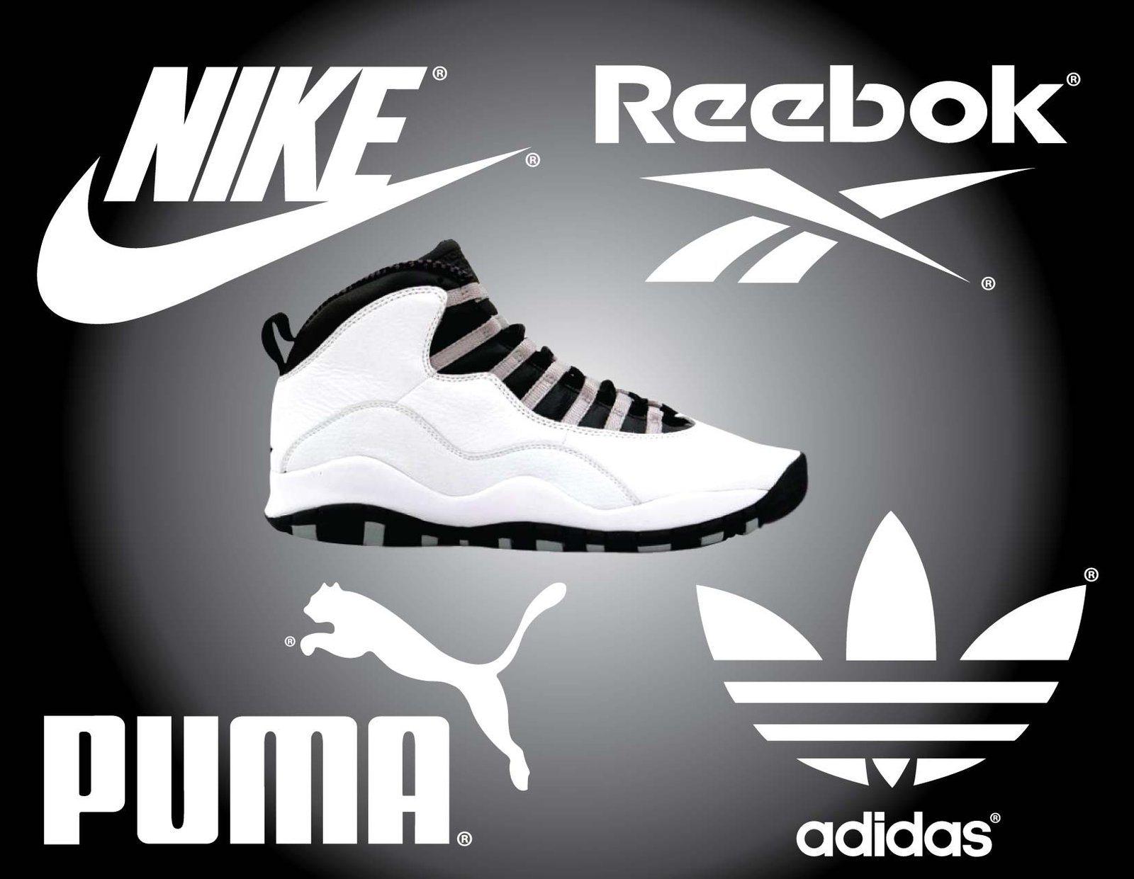 Infograph: 4 op een rij Nike, Adidas, Puma en Reebok