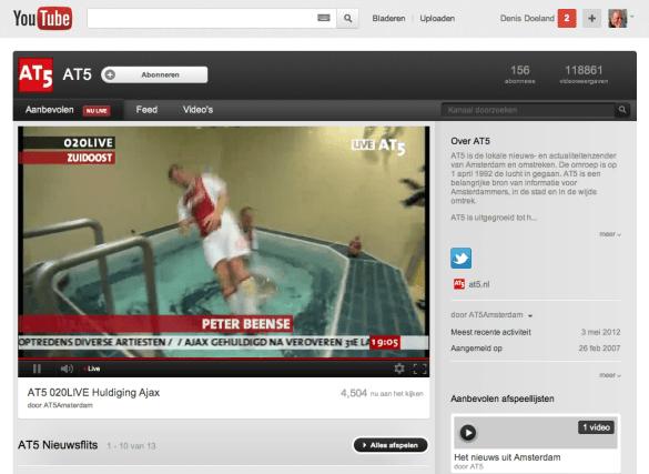 Ajax huldiging live op YouTube
