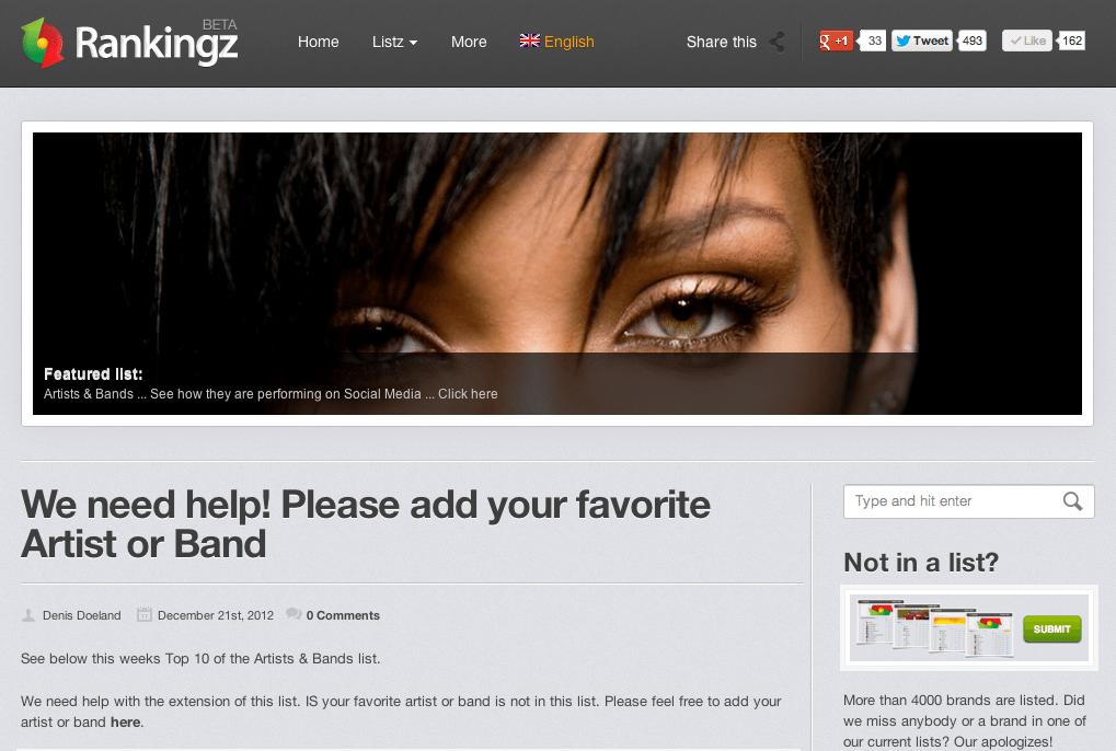 Rihanna at Rankingz