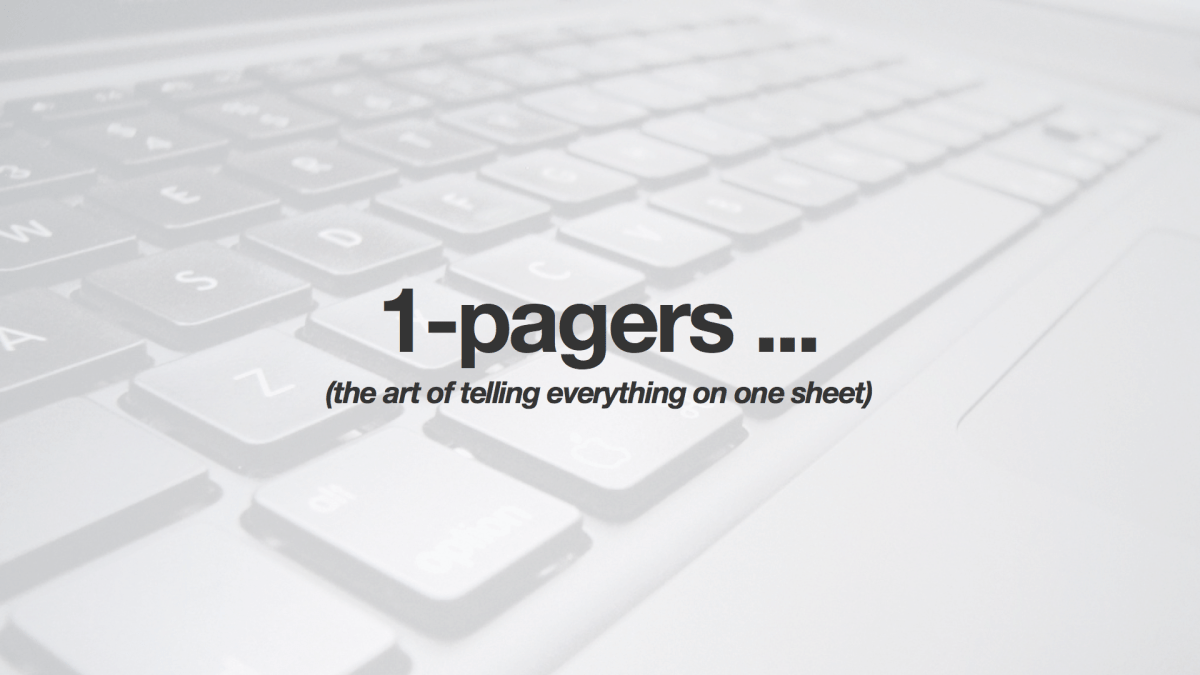 1-pagers