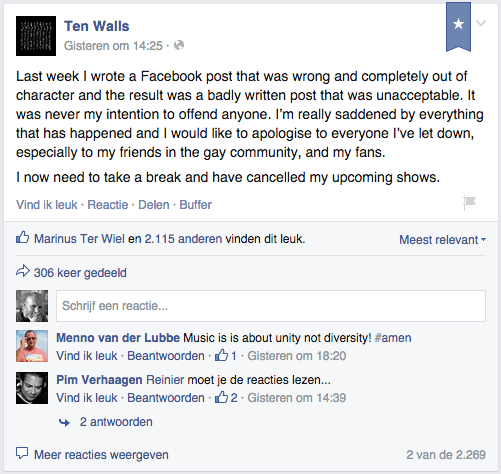 ten walls op facebook