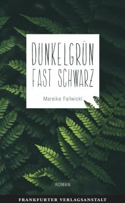 Buchcover des vorgestellten Buches: Grüne, schwarze Schatten werfende Farnblätter. Mittendrin auf weißem Hintergrund eine Tafel mit Titel und Namen.