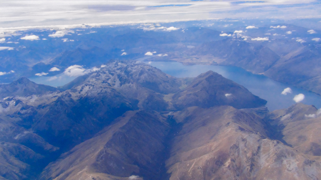 View from the plane as we left New Zealand.