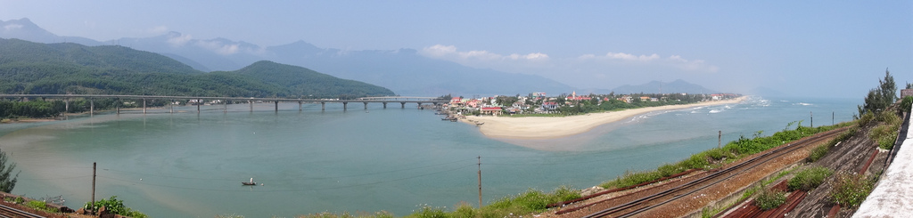 Panorama of Thura Thien-Hue, on our way to Hoi An.