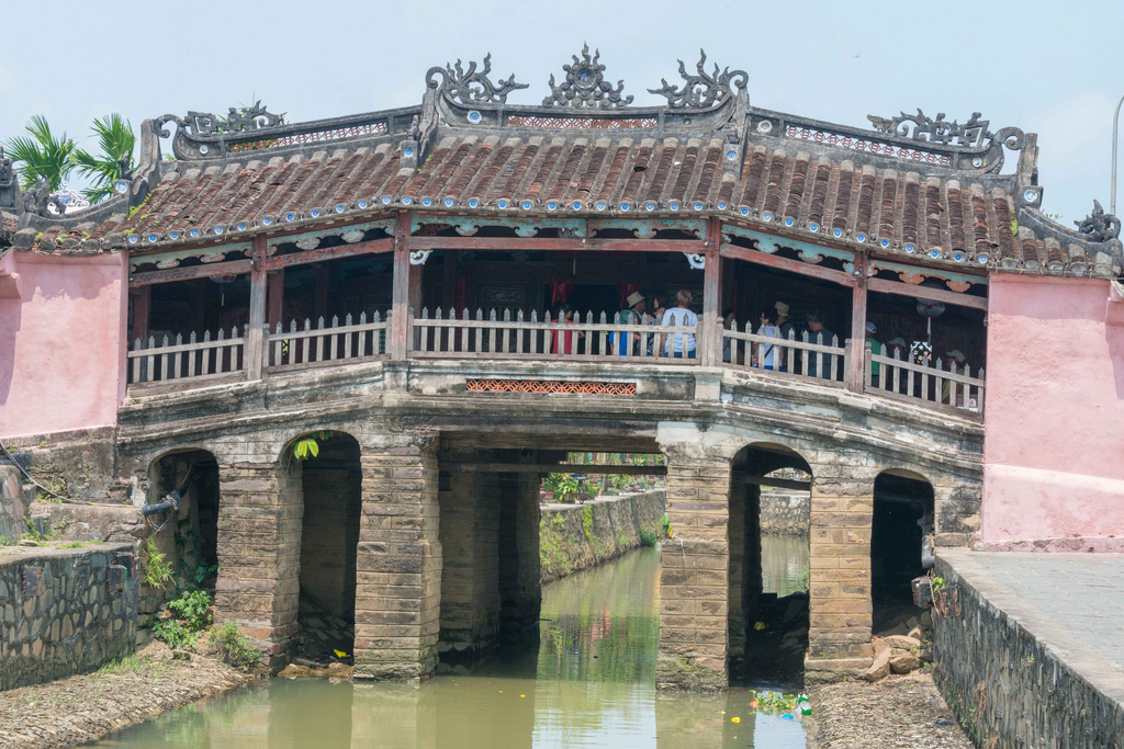 THIS is the Japanese Bridge. It dates from the 1600s.
