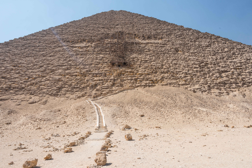 The Red Pyramid. We had it all to ourselves when we first arrived.