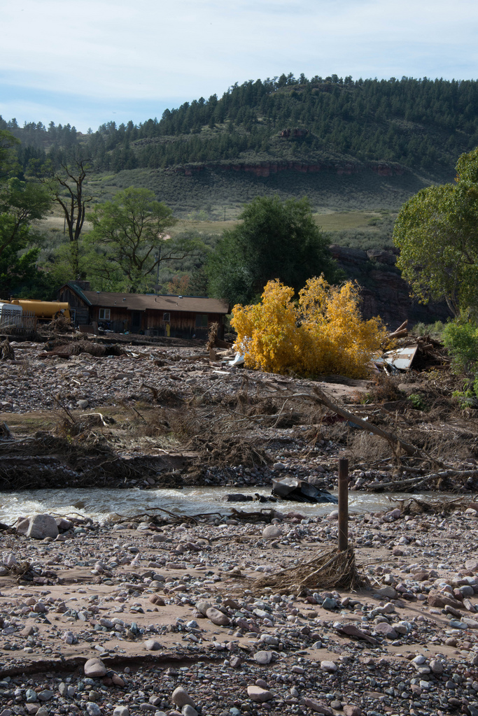 The 155-year-old Buster homestead has withstood everything the river has thrown at it - including Sept 13th 2013, when it had several feet of water inside. Nine of the property's outbuildings were swept away.