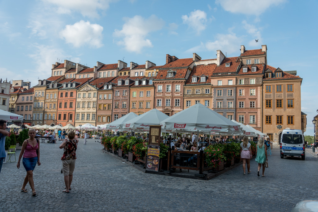 "The ""old"" city of Warsaw was completely destroyed by the Nazis in WWII and rebuilt during the 1950s."