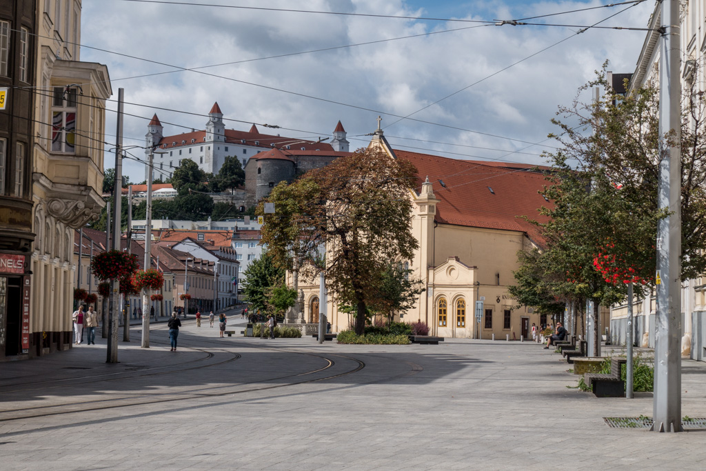 We stopped briefly in Bratislava, Slovakia, on our way to Budapest.
