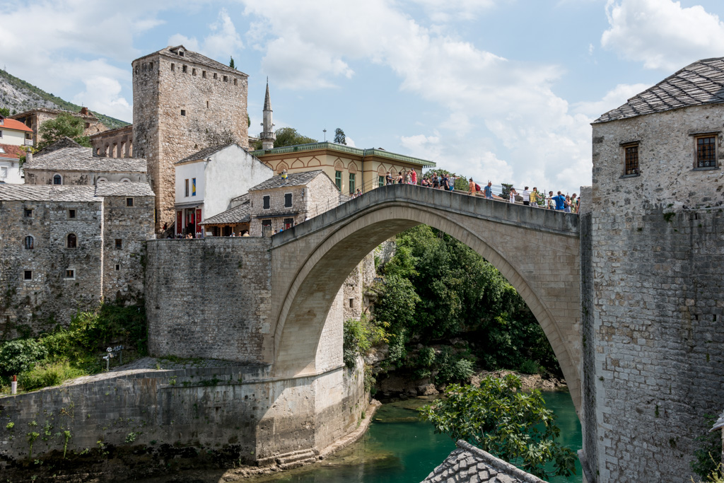The soaring Stari Most (Old Bridge) stood for over 400 years, but was destroyed in a few of the most senseless moments of the Balkan conflict. It has since been rebuilt.