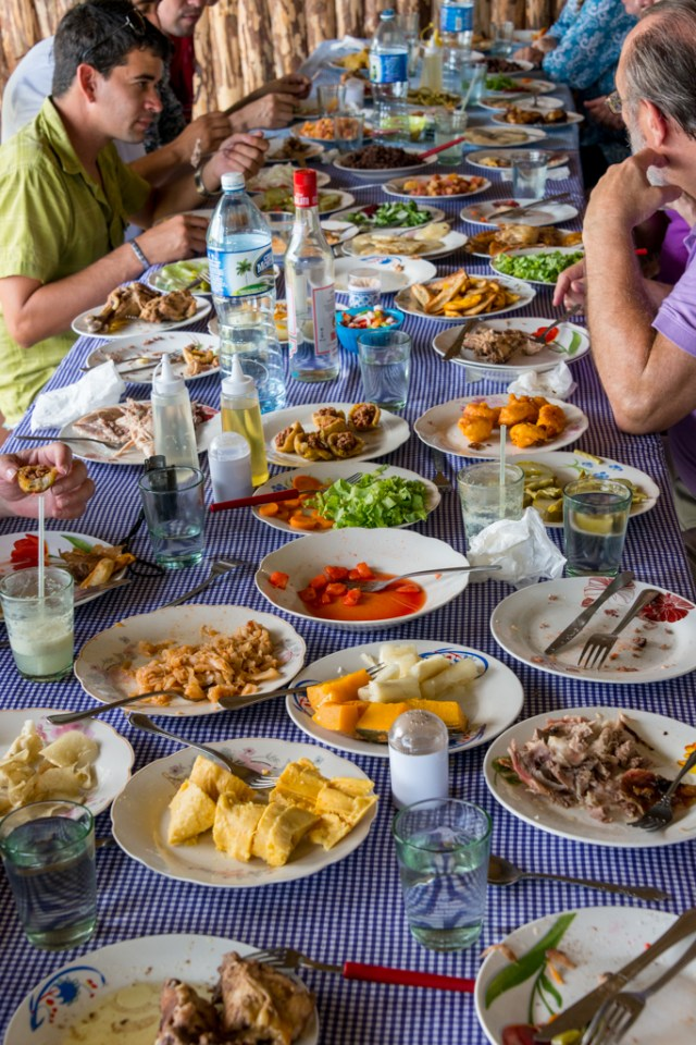 We lunched at another organic farm. At this point, we began to suspect that the Cubans really were trying to kill us--with vast quantities of food.