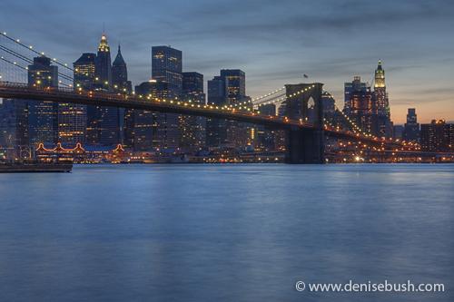 'Brooklyn Bridge & Downtown Manhatten' © Denise Bush