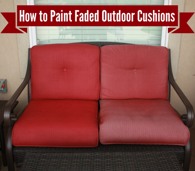 How To Freshen Up Paint Your Outdoor Cushions Denise