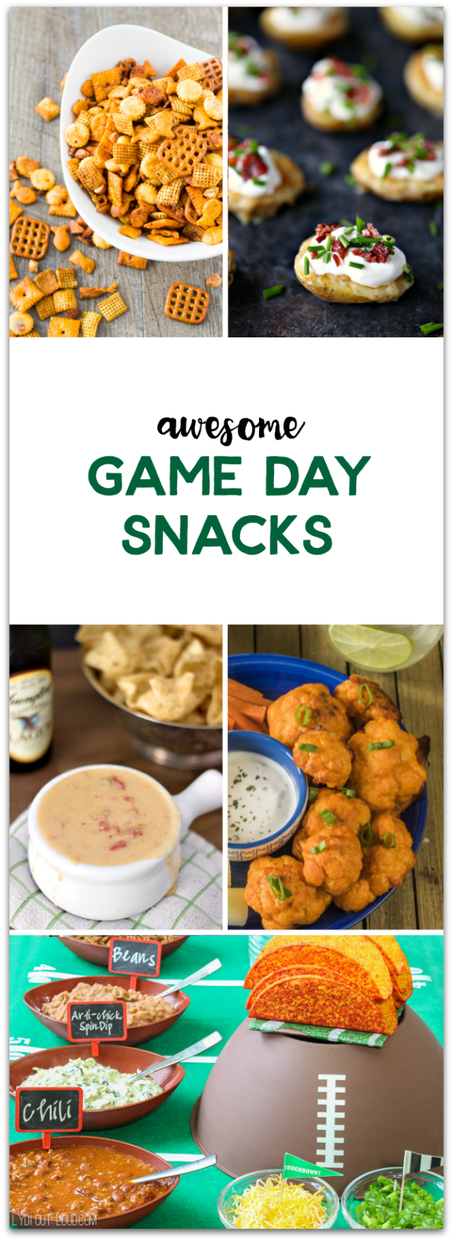 Awesome snacks for the BIG GAME! Get some great recipes in this roundup! TablerPartyofTwo.com