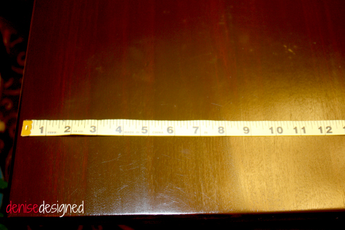 burlap table measure