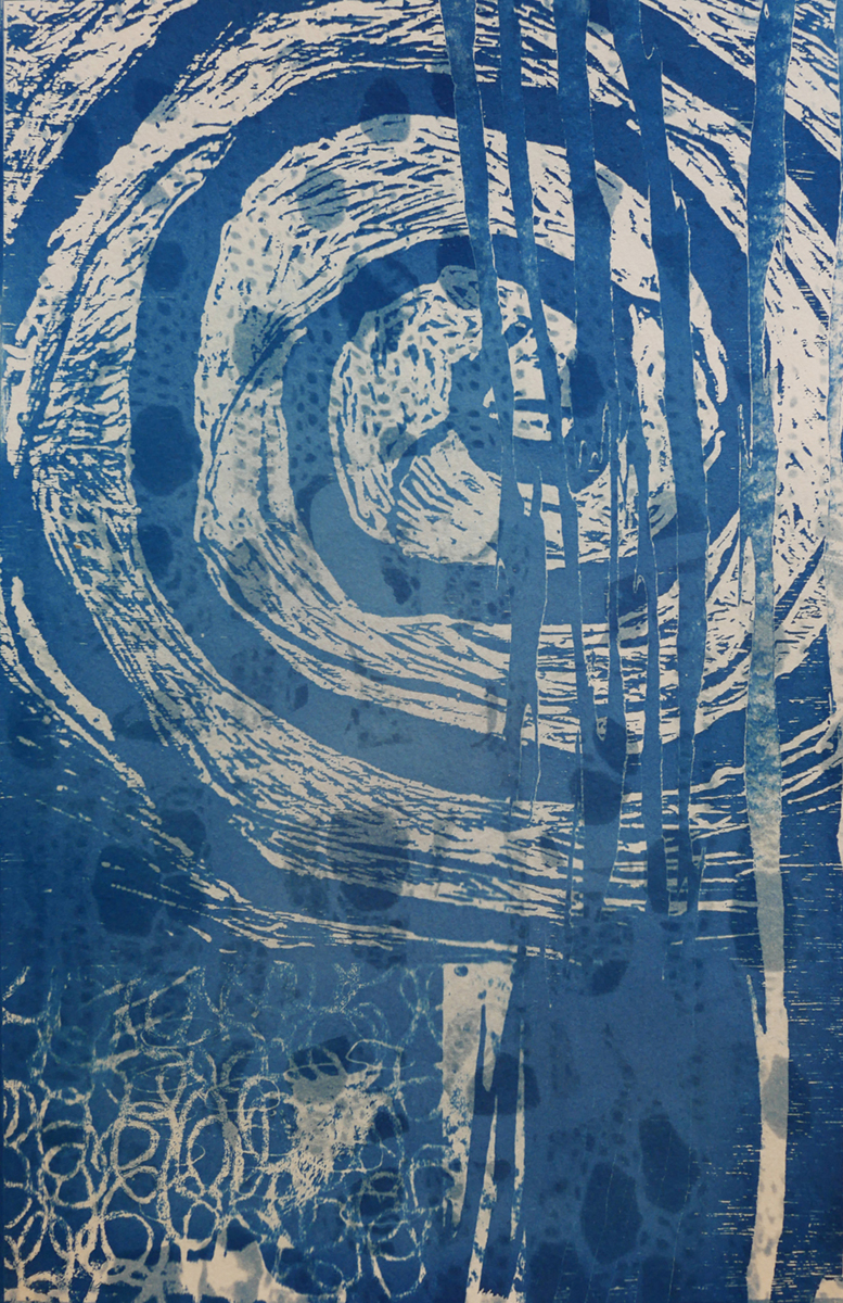 Other Side of the Curtain - Cyanotype - 16x20