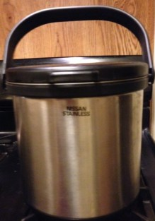 Use a thermos pot