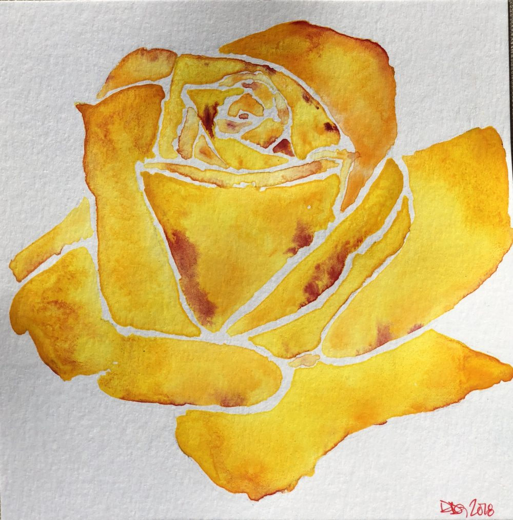 Watercolor Rose Painting