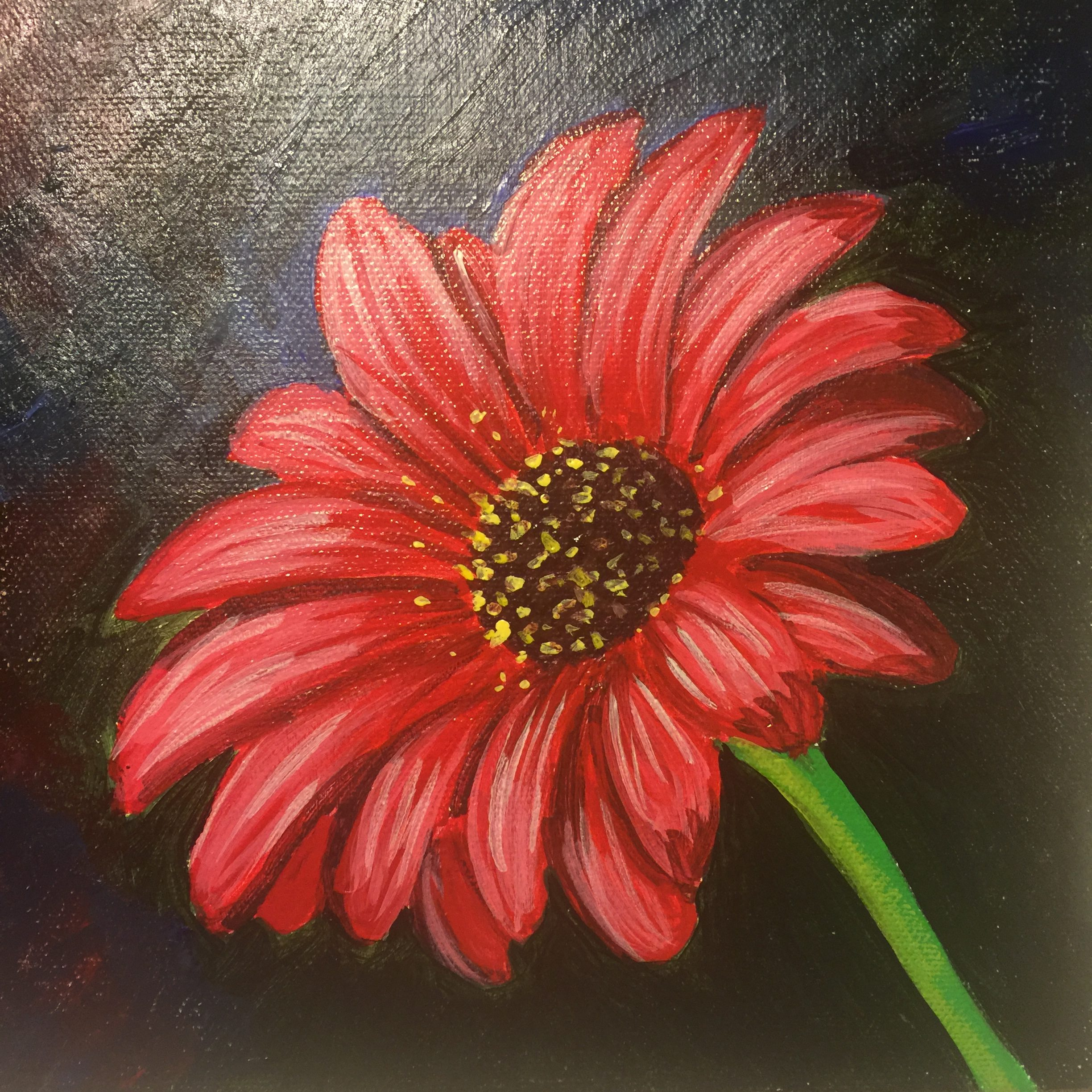 Acrylic Flower Painting, by Denise Genova