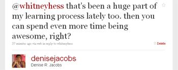 Denise Jacobs twitter response