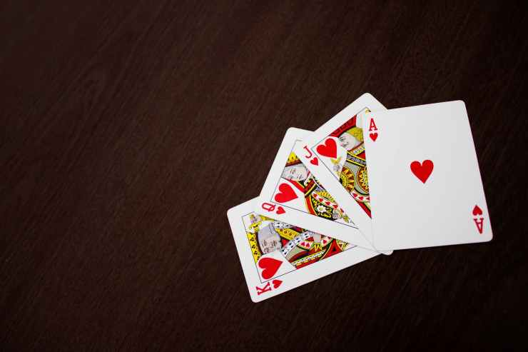 ace king jack and king of hearts playing cards