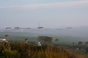 The Lizard is well known for the regular mist that rolls in - the Lizard has its own lighthouse. This was the view from our holiday let.