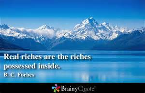 real riches are inside