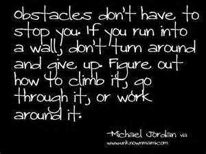 obstacles - Michael Jordan