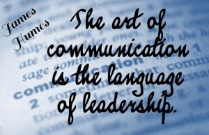 communication the language of leadership