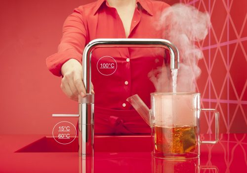Quooker Fusion Square Chrome with teapot