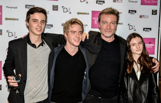 Dominic Bachy et ses enfants