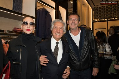 Stefanie Renoma, Jean-Luc Reichmann et Carlo Alberto Corneliani