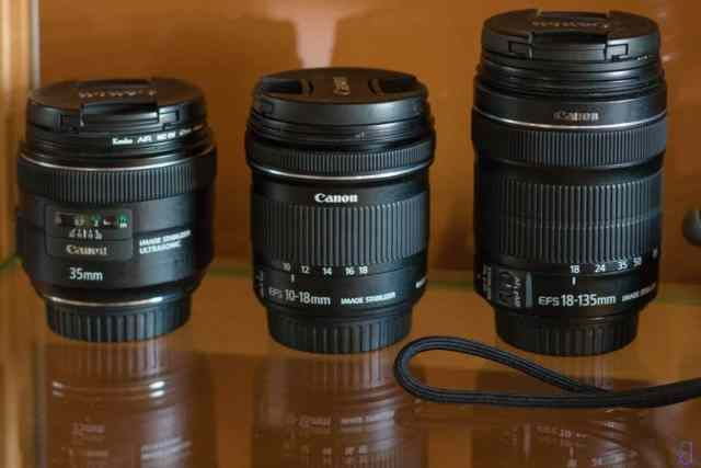 Outils - Objectifs - 35mm - 10-18mm - 18-135mm