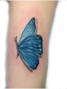 tatauggio farfalla blu
