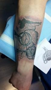 Tatuaggio Verona con bussola
