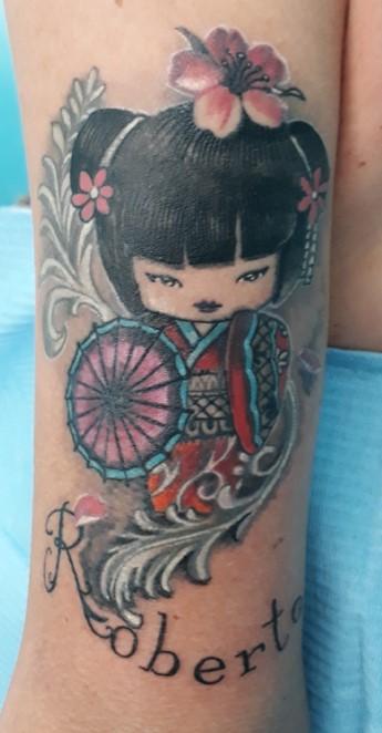 tatuaggio giapponese - bambola
