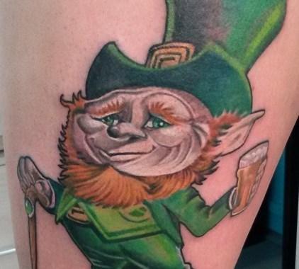 Tatuaggio Gnomo Irlandese