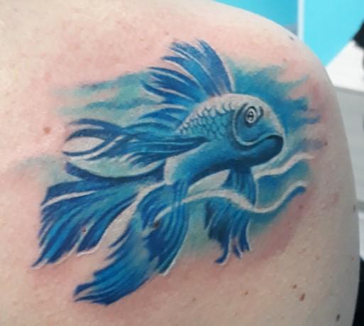 Tatuaggio pesce blu