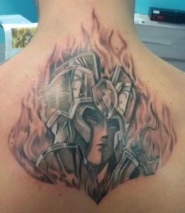 Tatuaggio cavaliere dello zodiaco