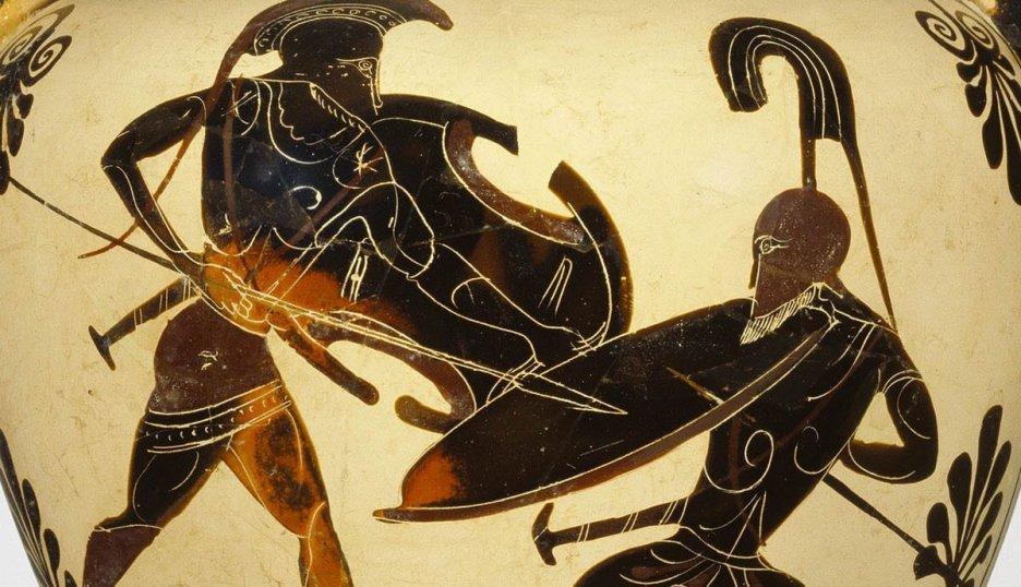 Kahramanların Savaşı, Troia Savaşı, Siyah-Figür Amfora