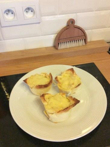 Rachel Khoo's Croque Madame, prepared in the Kernolou Kitchen